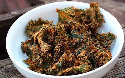 Cheesy Kale Chips – Shared by Stefanie