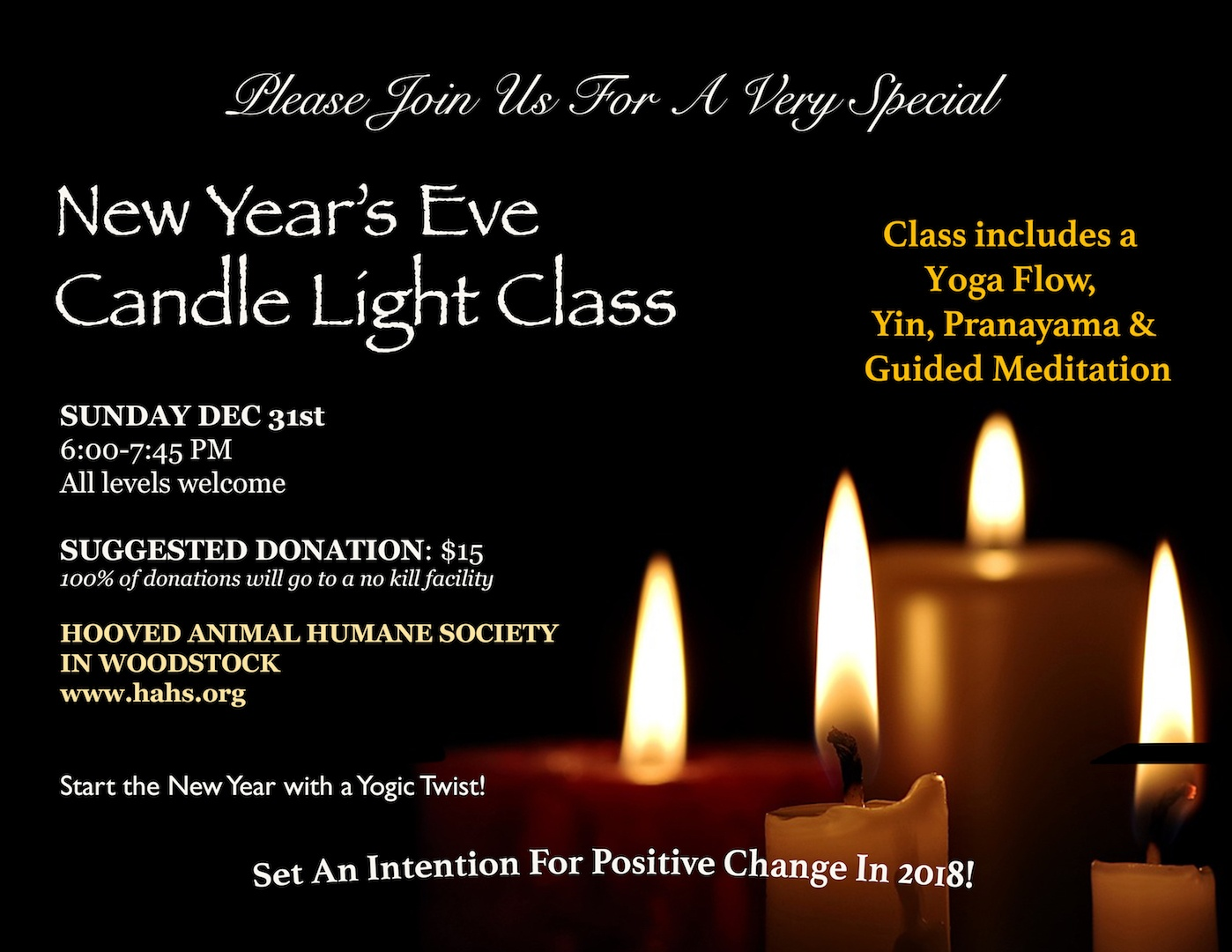 aec041c8f87c New Year's Eve Candle Light Yoga   Give To A Good Cause   Hot Yoga ...